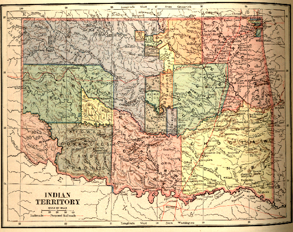 Indian territory map 1884 oklahoma maps for sale on ebay gumiabroncs Gallery